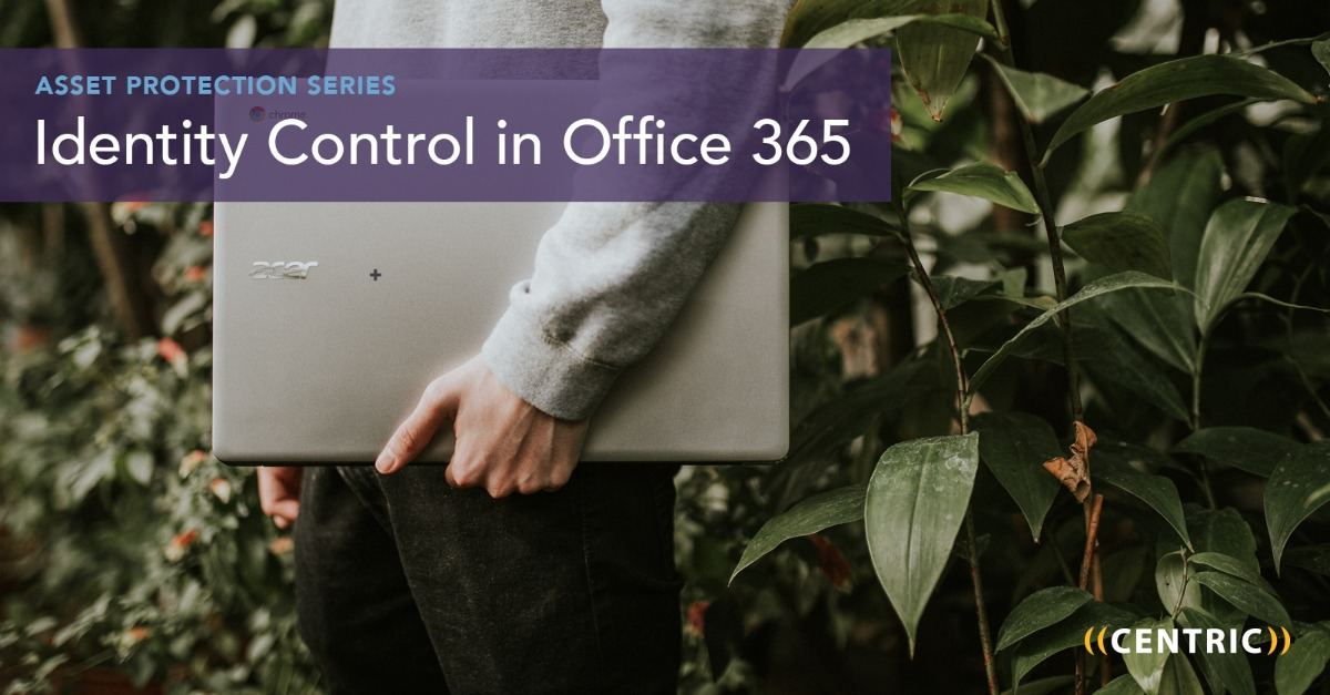 identity control in office 365