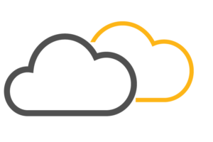 technology solutions - cloud computing icon