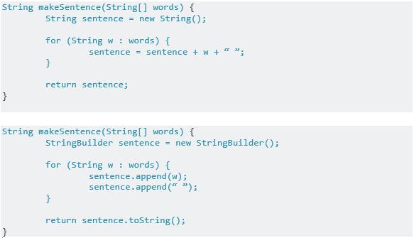 JavaString vs. StringBuilder