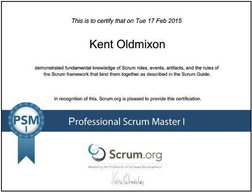 journey to become a professional scrum master