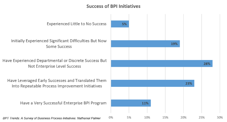 Success of Business Process Improvement Initiatives.