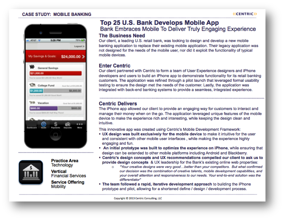Mobile Banking case study
