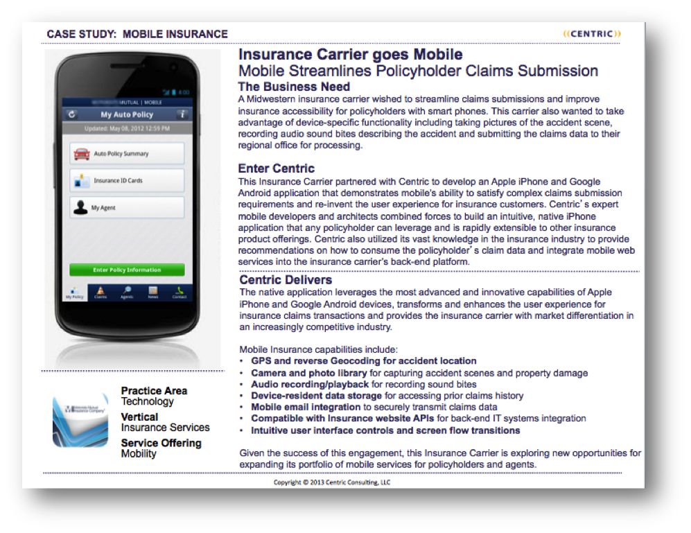 Mobile Insurance case study