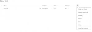 SharePoint Modern Lists