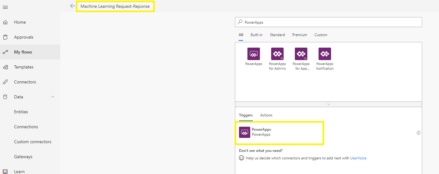 Interact with Machine Learning Using PowerApps and Flow – Part 2