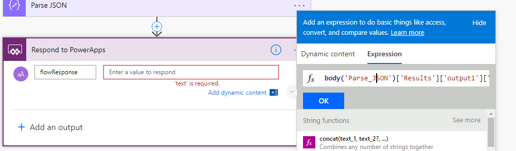 PowerApps Flow Screen 10