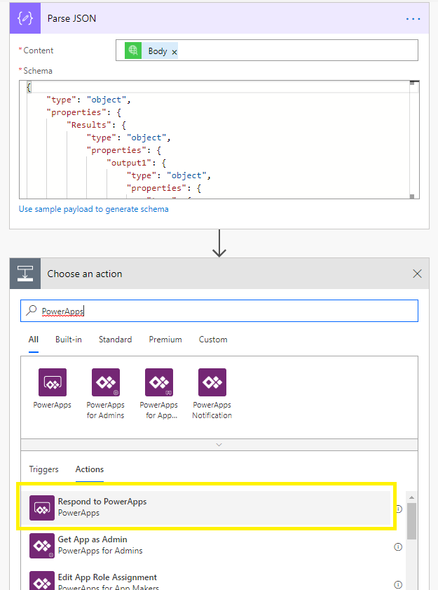 PowerApps Flow Screen 9