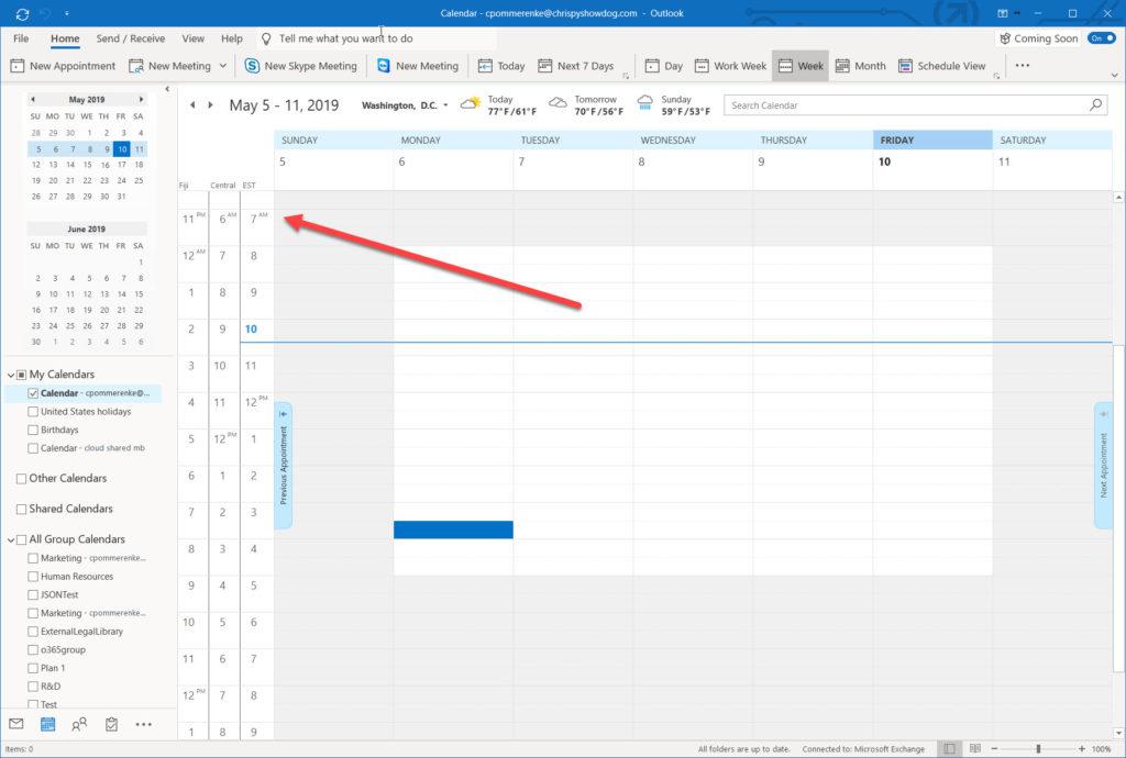 Outlook updates 6